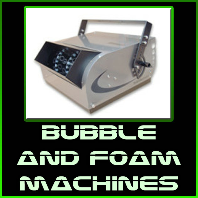bubble and foam machines