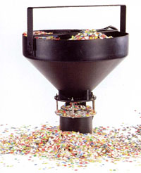 snow confetti machine