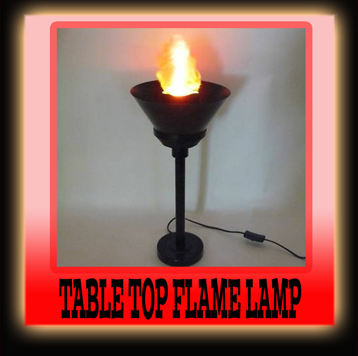 Flame Lamp Artificial Fire Hanging Light for Party Halloween Holiday  Decoration